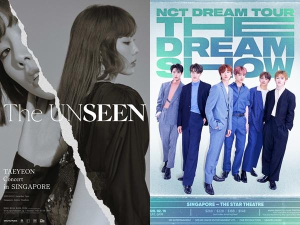 Taeyeon dan NCT Dream Batal Konser di Singapura karena Virus Corona, Fans Bersyukur