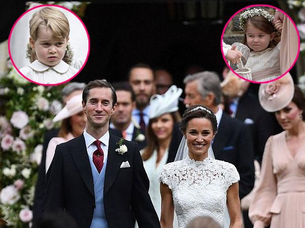 Gemasnya Pangeran George dan Putri Charlotte di Pernikahan Pippa Middleton