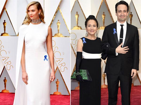 Selebriti Hollywood Ramai Kenakan Pita Biru di Oscar 2017, Ada Apa?