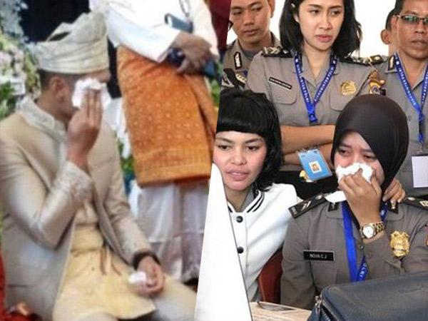 Kisal Viral nan Haru Sepasang Polisi Langsungkan Pernikahan Lewat Video Call