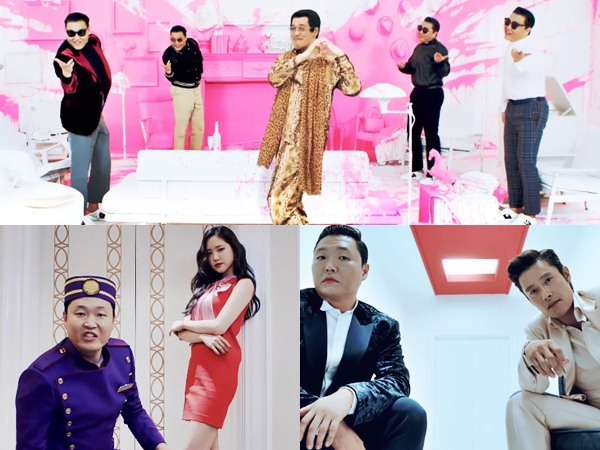 Naeun A Pink Hingga Pikotaro 'PPAP' Meriahkan MV Comeback PSY 'New Face' & 'I Luv It'