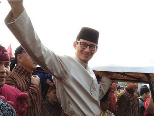 Cerita Sandiaga Uno yang Kebingungan Cari SBY di Pawai Kampanye Damai