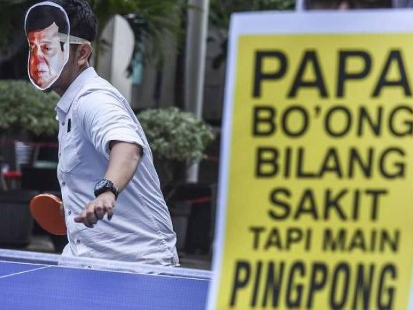 Mengaku Sakit Diare, Ternyata Setya Novanto Bisa Main Pingpong di Dalam Tahanan