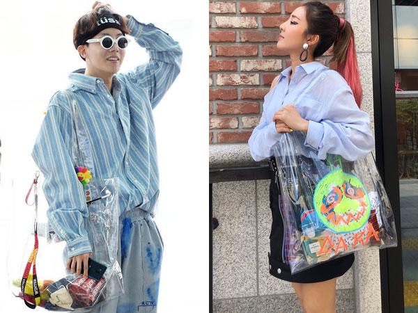 Tren Transparent Tote Bag di Kalangan Idola K-Pop 'Hypebeast'