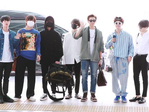 Gaya Airport Fashion BTS Menuju LA, Casual yet Stylish!