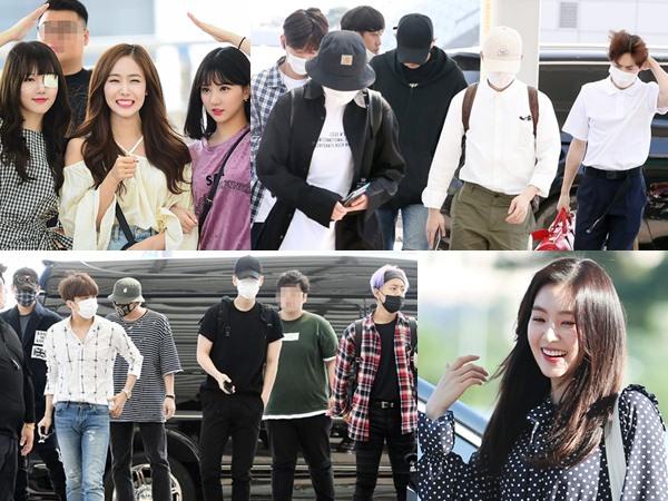 Momen Kedatangan Rombongan Idola K-Pop Hingga MC 'Music Bank' di Jakarta