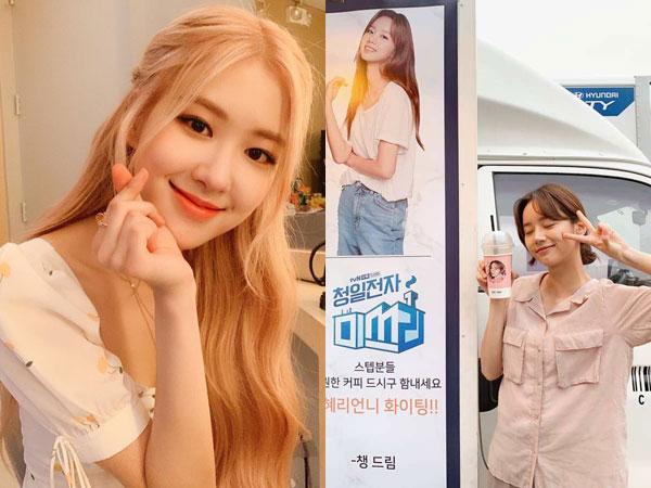 Rose BLACKPINK Beri Kejutan Manis untuk Hyeri Girl's Day di Lokasi Syuting