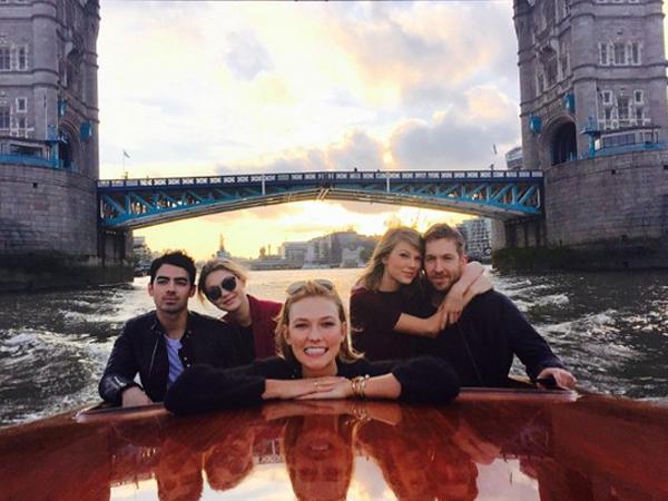 Taylor Swift Kencan Bareng Pacar dan Mantan Pacar di London