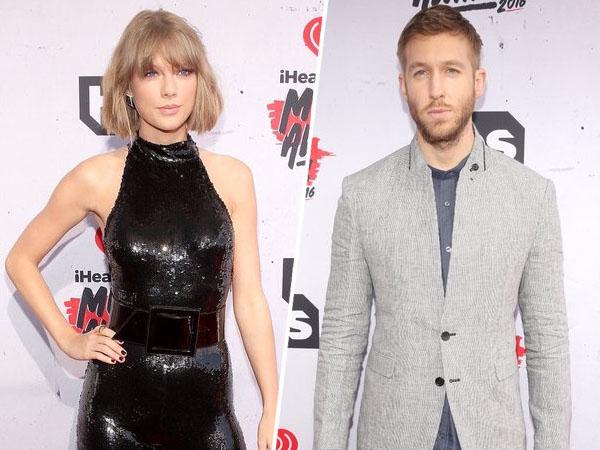 Begini Ekspresi Penuh Cinta Taylor Swift Saat Lihat Calvin Harris Menang Penghargaan