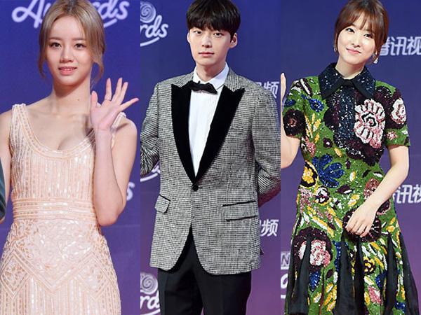 Perdana Digelar, Simak Gaya Fashion Para Selebriti di Red Carpet 'tvN10 Awards'