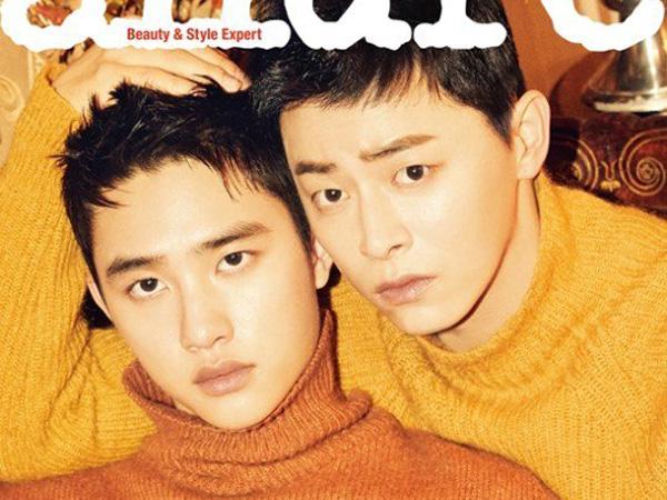 D.O EXO dan Jo Jung Suk Tunjukkan Chemistry Bromancenya di Pemotretan Allure