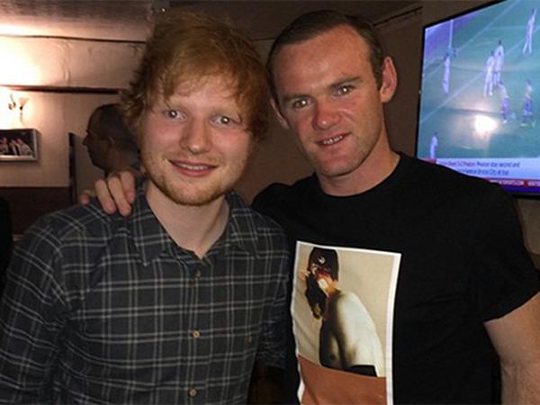 Ed Sheeran akan Ajak Pesepakbola Wayne Rooney untuk Duet?