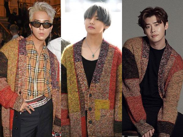 Cardigan Burberry Kembar Mino WINNER vs V BTS vs Lee Jong Suk, Who Wore it Better?