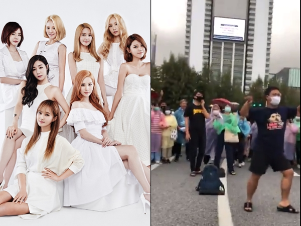 Aksi Unik Demonstran Thailand Joget Lagu SNSD 'Into The New World'