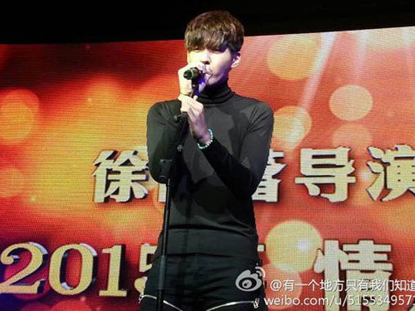 Wu Yi Fan Tampil Memukau Nyanyikan 'All Of Me' di Premier 'Somewhere We Only Know'