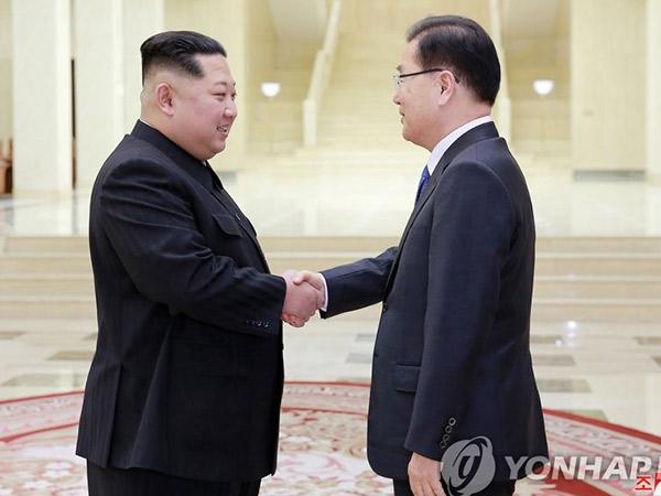 Momen Nekat Perwakilan Korea Selatan Minta Kim Jong Un Berhenti Merokok