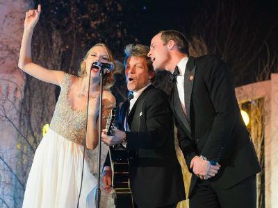 Ketika Pangeran William Manggung Bareng Taylor Swift dan Jon Bon Jovi!