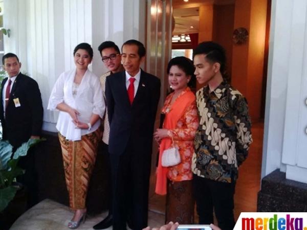 Presiden Terpilih Jokowi Kenalkan Ketiga Anaknya untuk Pertama Kalinya