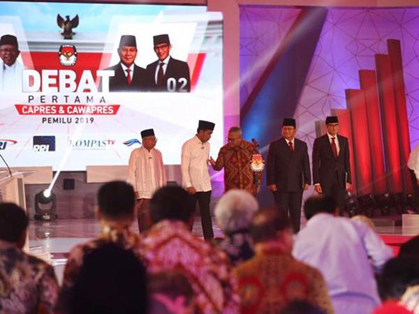 Melihat Lebih Dekat Gaya Jokowi-Ma'ruf dan Prabowo-Sandi di Debat Capres 2019