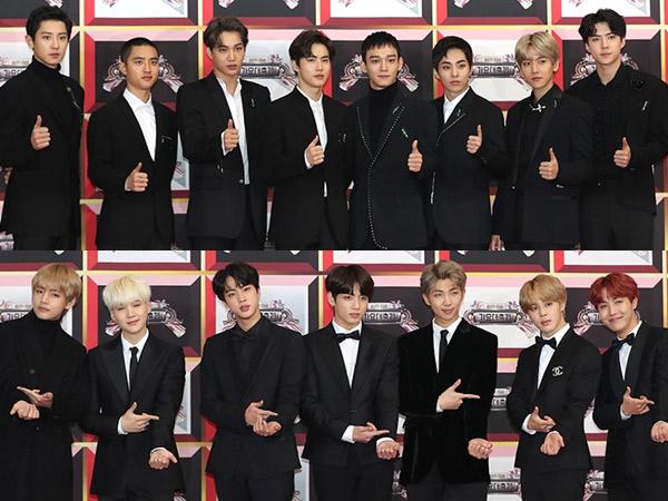 EXO dan BTS Masuk Nominasi Penghargaan Bergengsi US '2018 iHeartRadio Music Awards'