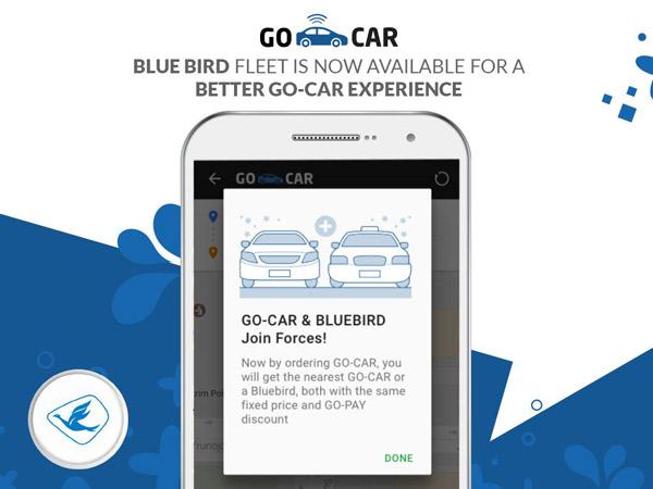 Kolaborasi dengan Blue Bird, Aplikasi Go-Jek Bisa Buat Pesan Taksi
