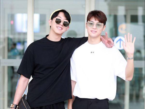 Jelang Wamil, Jungshin dan Minhyuk CNBLUE Kompak Terbang Bareng ke Bali!
