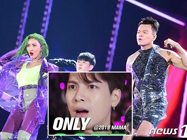 Ekspresi Kocak Jackson GOT7 Jadi Sorotan Saat Penampilan Hwasa & JYP di MAMA 2019