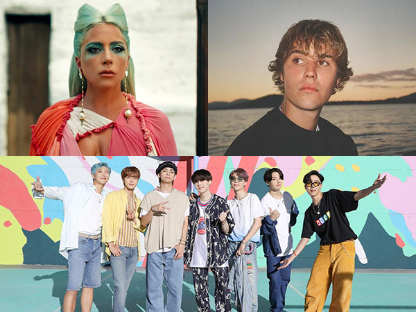 Lady Gaga, Justin Bieber, BTS Kuasai Daftar Nominasi MTV EMA 2020
