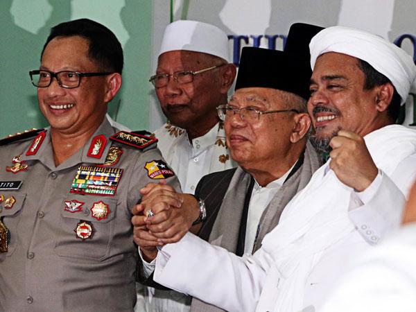 Cawapres Jokowi Ke Arab Saudi Bukti PDI-P Serius Rangkul Habib Rizieq di Pilpres 2019?