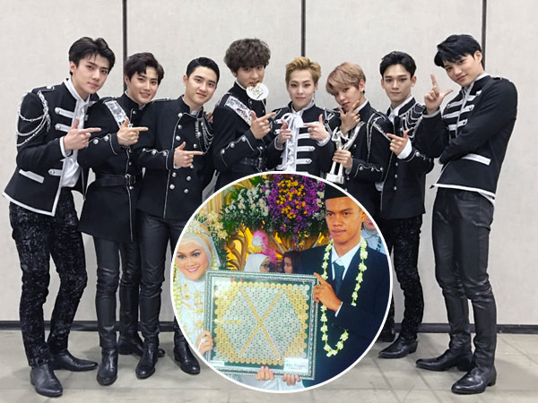 Gunakan Lambang EXO Sebagai Mahar Pernikahan, Pasangan Ini Hebohkan Netizen