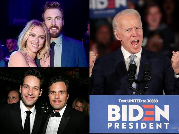 Pemain The Avengers Ikut Galang Dana untuk Capres Joe Biden