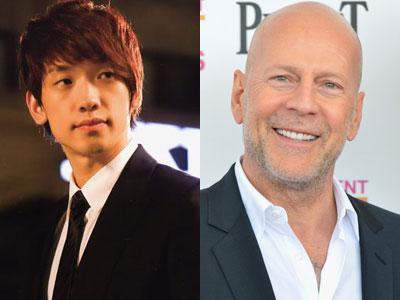 Rain Pamer Keakraban Dengan Bruce Willis Dalam 'Rain Effect'