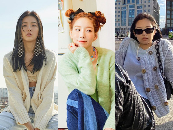 Inspirasi Gaya Cardigan Ala Idola K-Pop untuk Hangout Atau ke Kampus