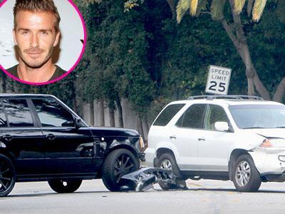 Duh, David Beckham dan Anaknya Alami Kecelakaan Mobil!