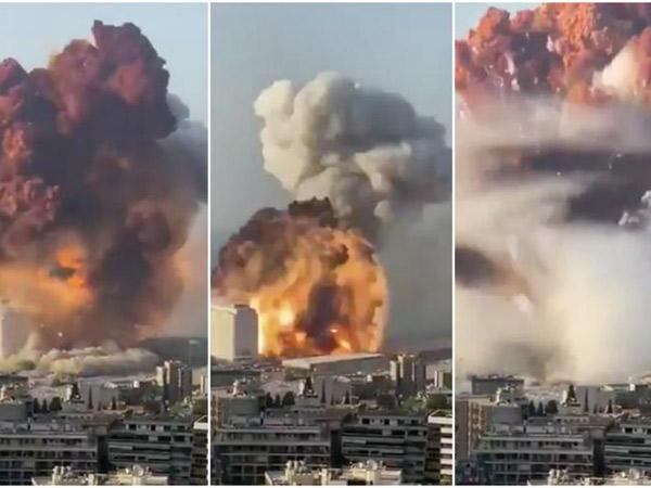 Video Detik-detik Ledakan Dahsyat di Libanon yang Tewaskan Puluhan Orang