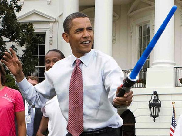Tinggalkan Awak Media, Presiden Obama Juga Terkena Demam 'Star Wars'