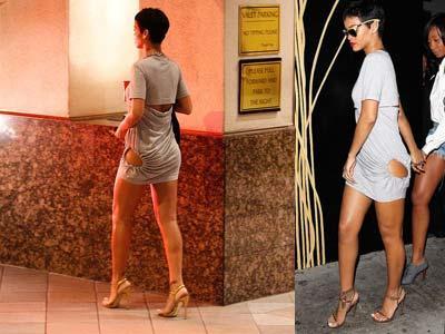 Rihanna Pamer Bokong di Sebuah Club