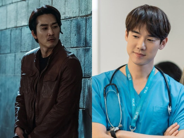 Lucunya Interaksi Song Seung Heon dan Yoo Yeon Seok Saling Dukung Drama Baru