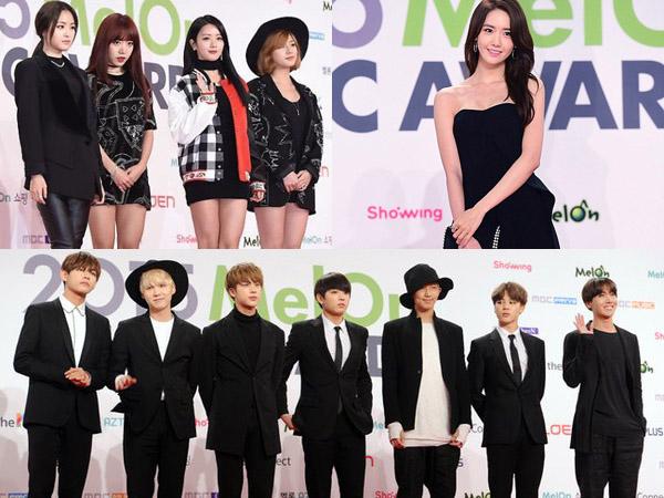 Hitam Dominasi Penampilan Idola K-Pop di Red Carpet Melon Music Awards 2015
