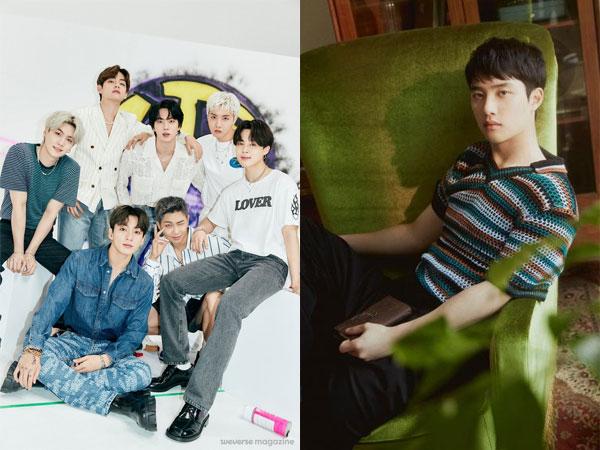 BTS Bertahan di Puncak, D.O EXO Debut di Chart Billboard World Albums Minggu Ini