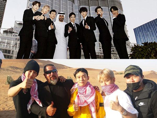 Begini Serunya Member EXO Nikmati Waktu Liburan di Dubai