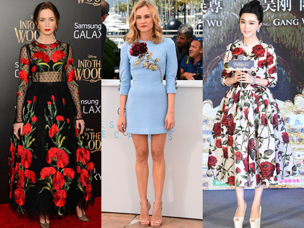 Floral Dress Dolce & Gabbana Ini Jadi Favorit Para Seleb Hollywood di Musim Panas
