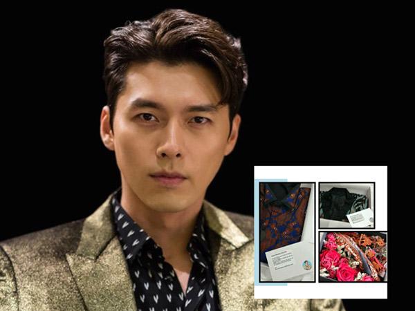 Ultah ke 38 Tahun, Hyun Bin Dapat Kado Batik dari Fans Indonesia