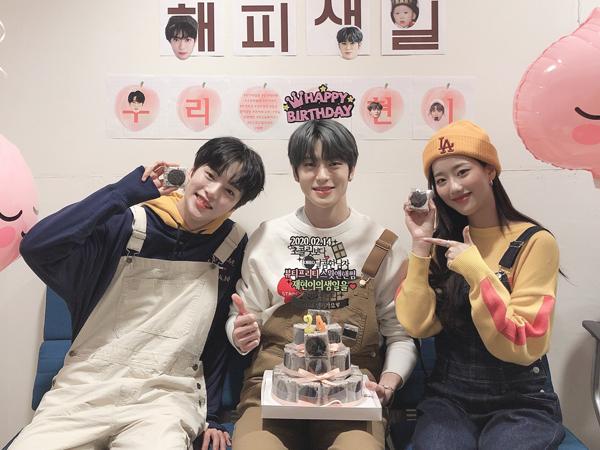 Minhyuk MONSTA X dan Naeun APRIL Rayakan Ulang Tahun Jaehyun NCT, Bikin Gemas!