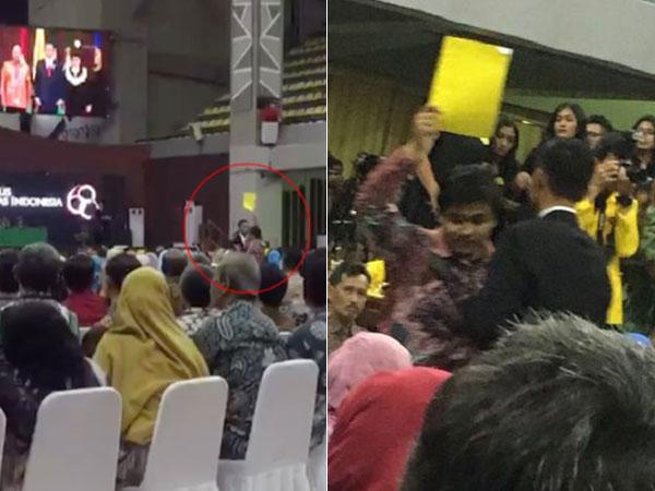 Detik-detik Insiden Mahasiswa Ketua BEM UI Acungkan 'Kartu Kuning' ke Presiden Jokowi