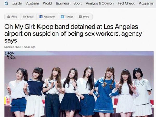 Tertahannya Oh My Girl di Bandara Los Angeles Selama 15 Jam Juga Jadi Sorotan Media Internasional!