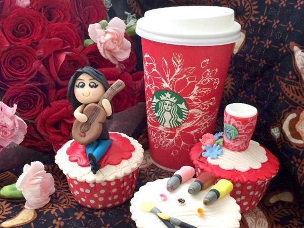 Keren, Desain dari Ilustator Indonesia Dipakai Starbuck Untuk Produk Edisi Khusus Liburan