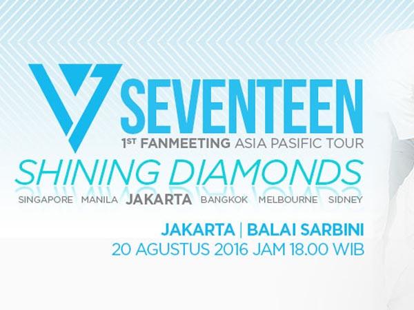 Siap Ketemu Seventeen Di Jakarta? Ini Detail Seat Plan Beserta Nomornya!