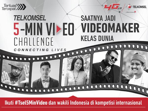 Berkesempatan Kompetisi di Kelas Dunia, Yuk Ikutan 'Telkomsel 5-Min Video Challenge'!