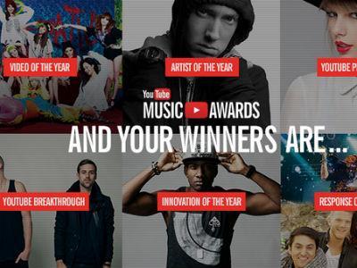 Ini Daftar Lengkap Pemenang YouTube Music Awards 2013!